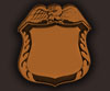 blank jr police badge