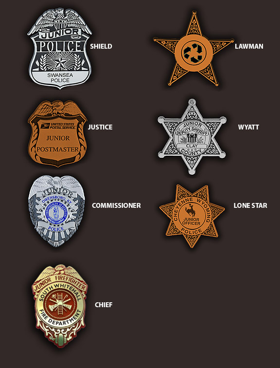 custom plastic police badges for your event clipbadges com