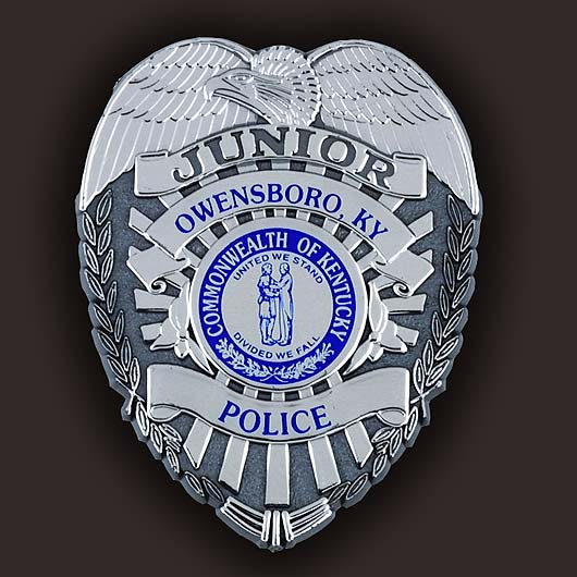 plastic Comissioner police badges with custom imprint